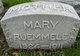 Mary Anna <I>Sewalt</I> Ruemmele