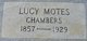 Profile photo:  Lucy E <I>Motes</I> Chambers