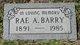 """Rachel Alice """"Rae"""" <I>Storrs</I> Barry"""