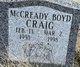 Profile photo:  McCready Boyd Craig