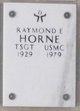 Profile photo: Sergeant Raymond E Horne