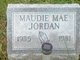 Profile photo:  Maudie Mae <I>Johnson</I> Jordan