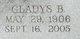 Profile photo:  Gladys L. <I>Buffington</I> Bancroft