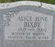 Profile photo:  Alyce June <I>McFarlane</I> Bixby