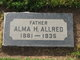 Profile photo:  Alma Hilford Allred, Sr