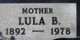 Lula Bell <I>Dudley</I> Pitt
