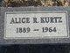 Profile photo:  Alice Rebecca <I>Dunn</I> Kurtz