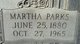 Martha Jane <I>Parks</I> Livingston
