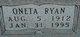 Oneta Helen <I>Ryan</I> Carleton