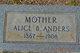 Profile photo:  Alice Bell <I>Brantley</I> Anders