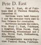 "Profile photo:  Percy Dale ""Pete"" East"