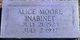 Alice Mae <I>Moore</I> Inabinet
