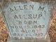 Profile photo:  Allen Marion Allsup