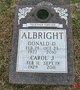 Profile photo:  Donald D Albright