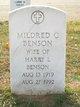 Profile photo:  Mildred <I>Clothier</I> Benson