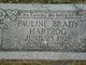 Pauline <I>Brady</I> Hartzog