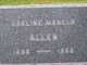 "Profile photo:  Adeline ""Addie"" <I>Moncur</I> Allen"