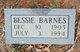 Profile photo:  Bessie Barnes