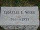 Profile photo:  Charles E Webb