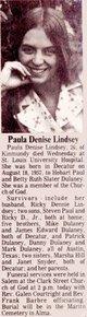 Paula Denise <I>Dulaney</I> Lindsey