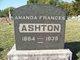 Profile photo:  Amanda Frances <I>Davis</I> Ashton