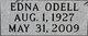 Profile photo:  Edna Odell <I>Hatchett</I> Durm