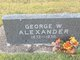 Profile photo:  George Washington Alexander