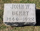 Sgt John W Berry