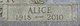 Alice Elisabeth <I>Lesker</I> Griffiths