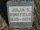"""Gunhild Soffia """"Julia"""" <I>Larson</I> Bonefield"""