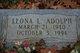 Leona L <I>Ramsey</I> Adolph