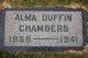 Profile photo:  Alma Duffin Chambers