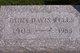Ethel Margaret <I>Curtis</I> Davis Wells