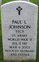 Paul L Johnson