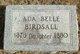 Profile photo:  Ada Belle Birdsall