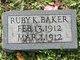 Ruby K Baker