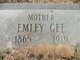 "Profile photo:  Emily C. ""Millie"" <I>Springer</I> Gee"