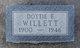 Dottie Ethel <I>Gregg</I> Willett