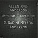 "Profile photo:  Allen Irvin ""Andy"" Anderson"