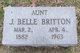 Profile photo:  J. Belle Britton