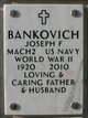 "Profile photo:  Joseph Francis ""Joe"" Bankovich"