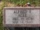 Profile photo:   Alfred R <I> </I> Agee,