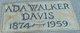 Profile photo:  Ada <I>Walker</I> Davis