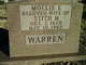 "Profile photo:  Mary Ellis ""Mollie"" <I>Testerman</I> Warren"