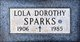 Lola Dorothy Sparks