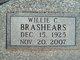 Willie Clyde <I>Clement</I> Brashears
