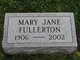 Mary Jane Fullerton