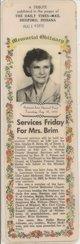 Profile photo:  Gladys Rose <I>Hickman</I> Brim
