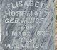Elisabeth <I>Imhoff</I> Hoffmann