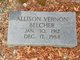 Profile photo:  Allison Vernon Belcher